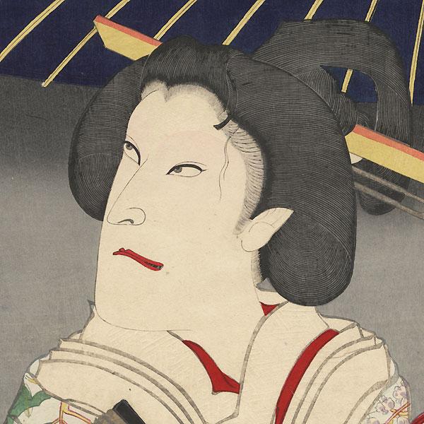 Onoe Kikugoro V as Iwafuji, 1893 by Kunichika (1835 - 1900)