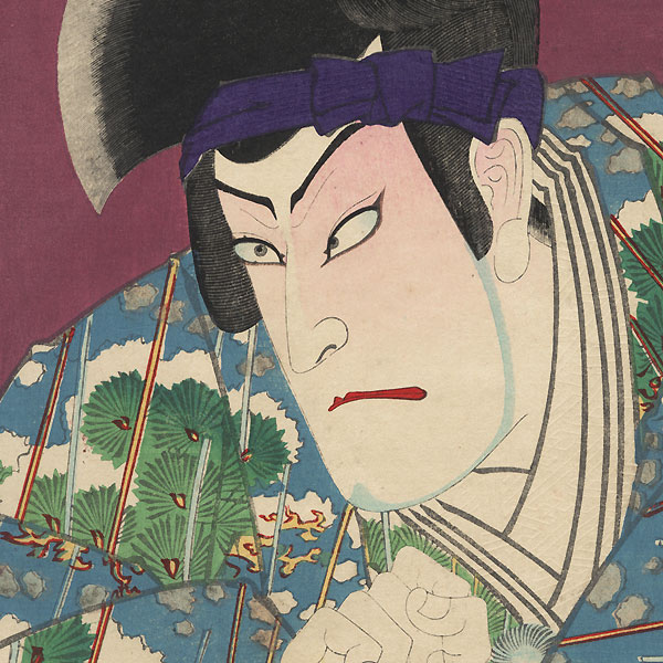 Onoe Kikugoro V as Matsuomaru and Ichikawa Danjuro IX as Genba, 1893 by Kunichika (1835 - 1900)