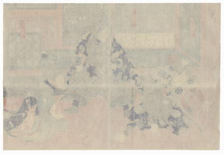 Tanigoro, Joetsu, and Beauty, 1850 by Toyokuni III/Kunisada (1786 - 1864)