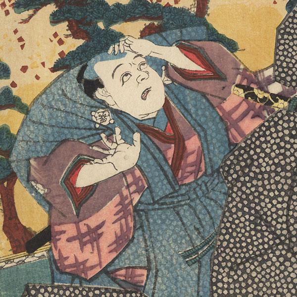 Arguing with a Daimyo, 1847 - 1852 by Toyokuni III/Kunisada (1786 - 1864)