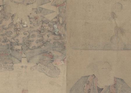 Oboshi Kuranosuke Kakemono, circa 1848 by Toyokuni III/Kunisada (1786 - 1864)