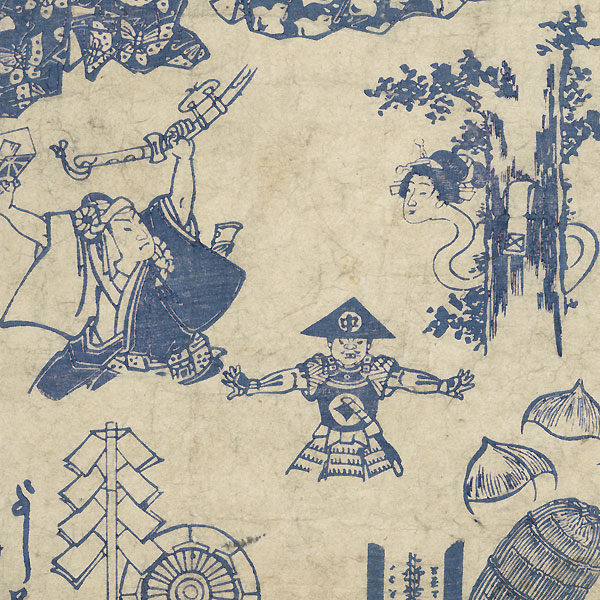 Comic Print with Long-necked Ghost by Yoshifuji (1828 - 1889)
