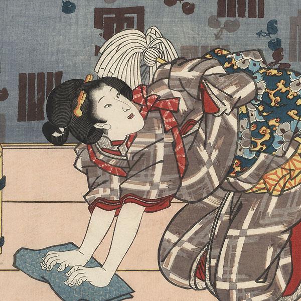 Housecleaning, 1847 - 1852 by Toyokuni III/Kunisada (1786 - 1864)