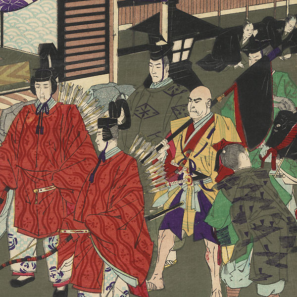 Tokugawa Shogun's Procession, 1889 by Meiji era artist (not read)
