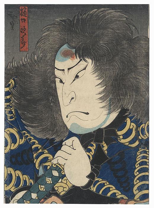 Wild-haired Boatman by Hirosada (active circa 1847 - 1863)