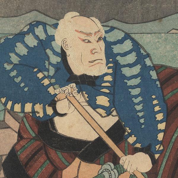 Elderly Boatman by Yoshitaki (1841 - 1899)