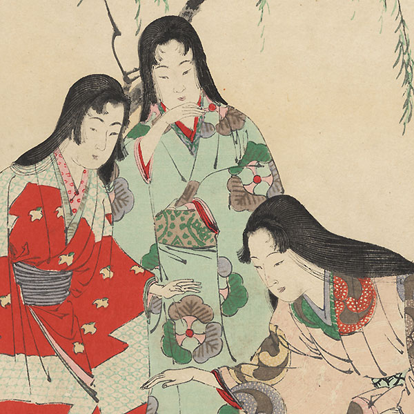 Playing with a Ball: Women of the Keicho Era (1596 - 1615) by Toshikata (1866 - 1908)