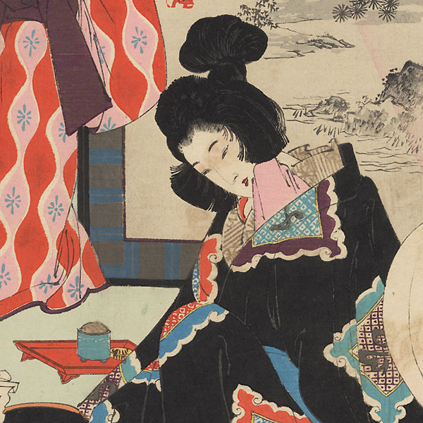 Courtesan: Woman of the Genna Era (1615 - 1624) by Toshikata (1866 - 1908)