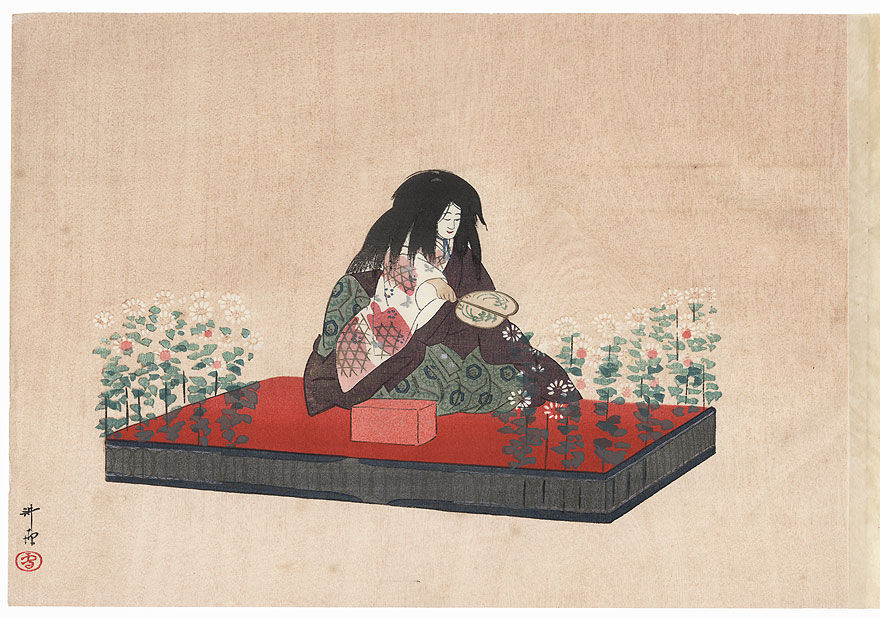 Makura Jido (Jido and the Pillow) by Tsukioka Kogyo (1869 - 1927)
