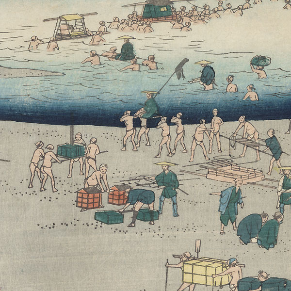 The Suruga Bank of the Oi River near Shimada, 1855 by Hiroshige (1797 - 1858)