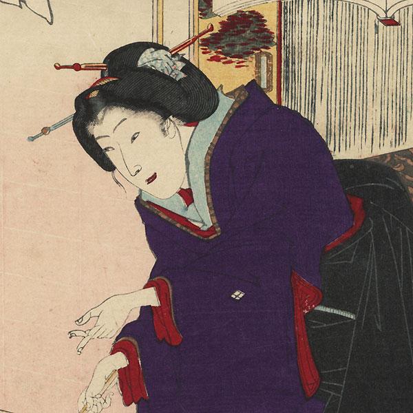 Wakamurasaki, Chapter 5 by Kunichika (1835 - 1900)