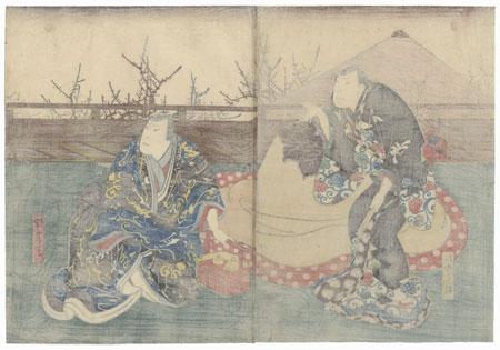 Scene from Kurawa Bunsho by Hirosada (active circa 1847 - 1863)