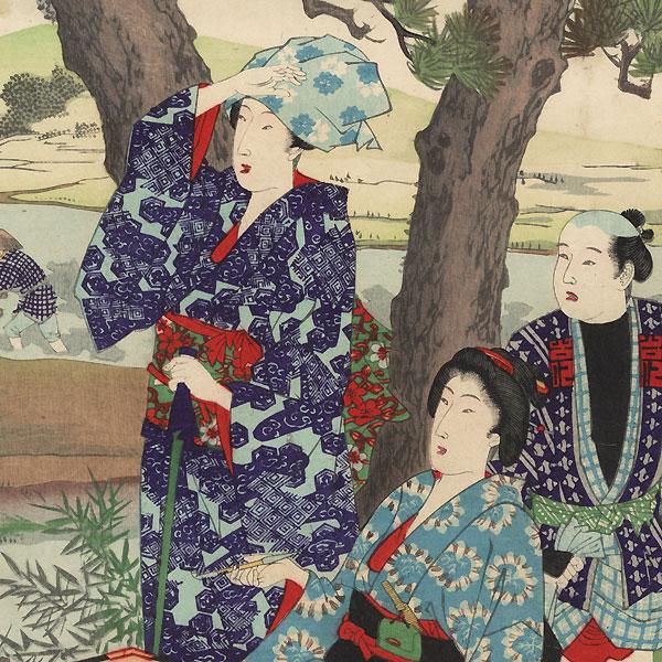 Fifth Month: Planting Rice, 1889 by Chikanobu (1838 - 1912)