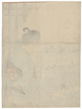 Blossoming Irises Kuchi-e Print, 1905 by Gekko (1859 - 1920)