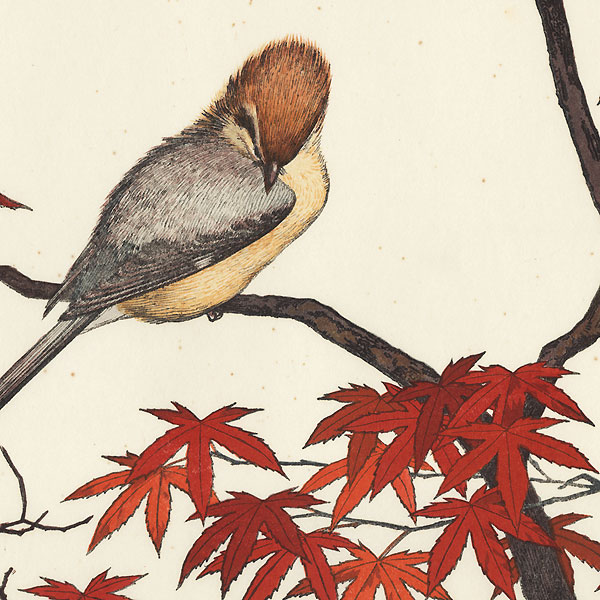 Autumn: Serenity of Red Maple by Toshi Yoshida (1911 - 1995)