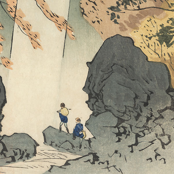 Yoro Waterfall, 1896 by Kiyochika (1847 - 1915)