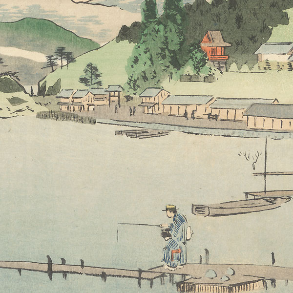 Lake Chuzenji, Nikko, 1897 by Kiyochika (1847 - 1915)