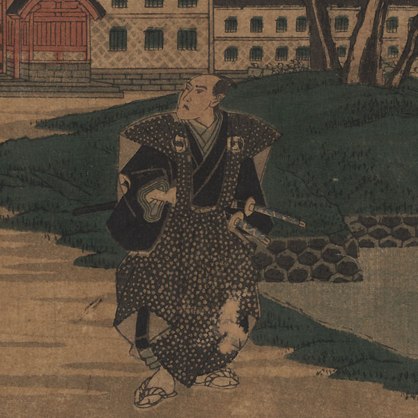 The 47 Ronin, Act 4: Lord Hangan's Suicide by Hiroshige (1797 - 1858)