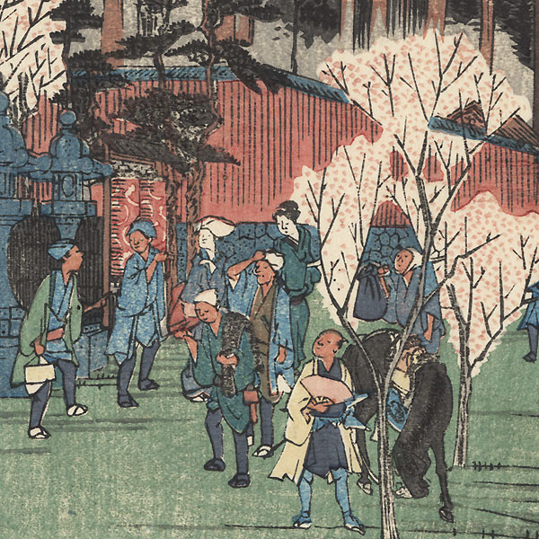 Inari Shrine at Oji by Hiroshige (1797 - 1858)