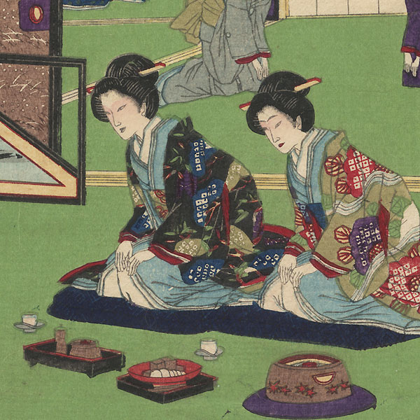 Offering Guest Refreshments by Ginko (active 1874 - 1897)