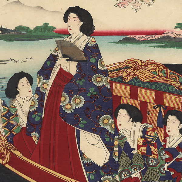 Pleasure Boat Outing by Chikanobu (1838 - 1912)