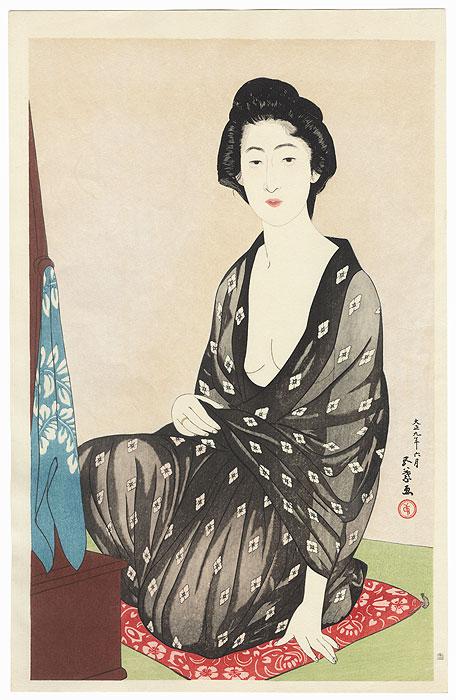 Woman in Summer Kimono, 1920 by Hashiguchi Goyo (1880 - 1921)
