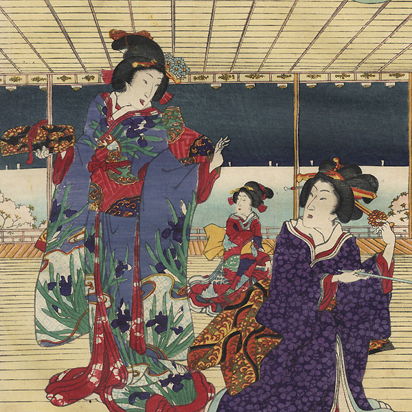 Young Prince Visiting a Palace by Kunisada II (1823 - 1880)