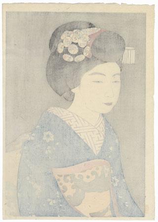 The Geisha Hinazo, 1922 by Yoshikawa Kanpo (1894 - 1979)