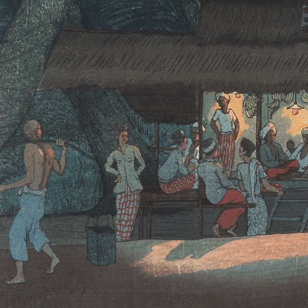 Night Scene, Malaya, 1924 by Elizabeth Keith (1887 - 1956)