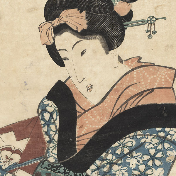 Beauty Carrying a Package Kakemono, circa 1818 - 1823 by Eizan (1787 - 1867)