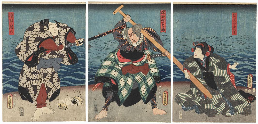 Scene from Shiranui Monogatari, 1853 by Toyokuni III/Kunisada (1786 - 1864)