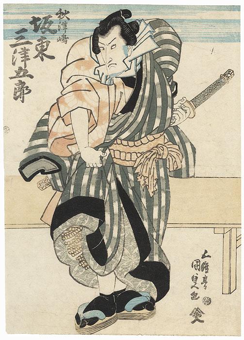 Bando Mitsugoro as a Sumo Wrestler by Toyokuni III/Kunisada (1786 - 1864)