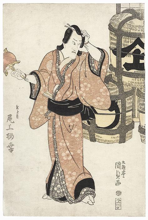 Onoe Baiko as Motome, 1815 by Toyokuni III/Kunisada (1786 - 1864)