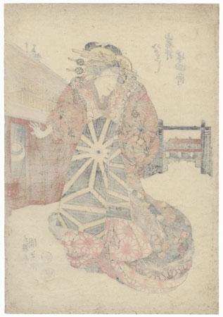 Iwai Hanshiro as a Courtesan, 1819 by Toyokuni III/Kunisada (1786 - 1864)