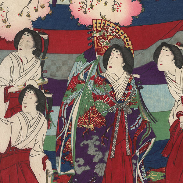 Spring Ceremony: Playing Music in the Imperial Court, 1877 by Kunichika (1835 - 1900)