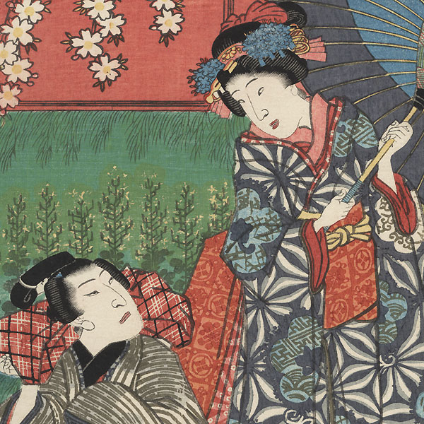 The Syllable So for Somemoyo: Osome and Hisamatsu by Toyokuni III/Kunisada (1786 - 1864)