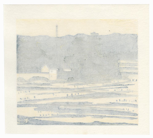 Summer Fields and Pagoda, 1982 by Takao Sano (born 1941)