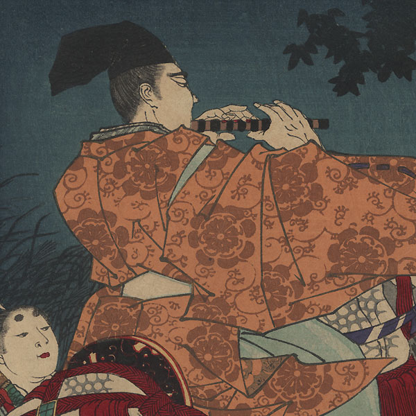 Yamashiro, Moon over Saga, Minister Nakakuni and Lady Kogo, No. 10 by Chikanobu (1838 - 1912)