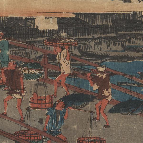 Nihonbashi, circa 1839 - 1842 by Hiroshige (1797 - 1858)