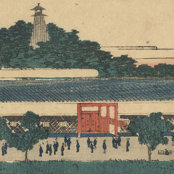 Suiten Shrine at Akabane, 1854 by Hiroshige (1797 - 1858)