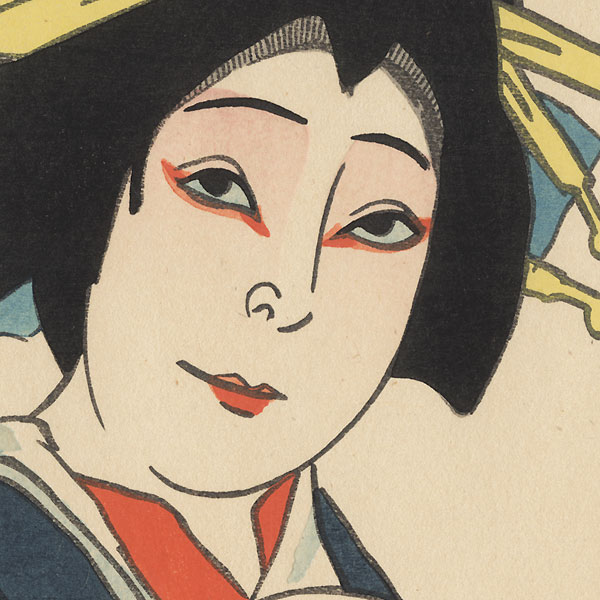 Ritsuko as Okon, 1915 by Natori Shunsen (1886 - 1960)