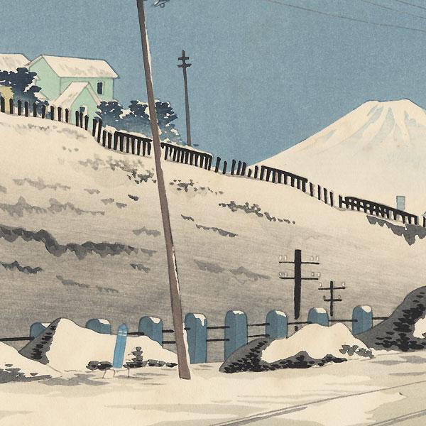 Fine Weather after the Storm in Tokyo Ochanomizu by Tokuriki (1902 - 1999)