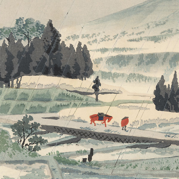 Rain at Kiraba by Tokuriki (1902 - 1999)