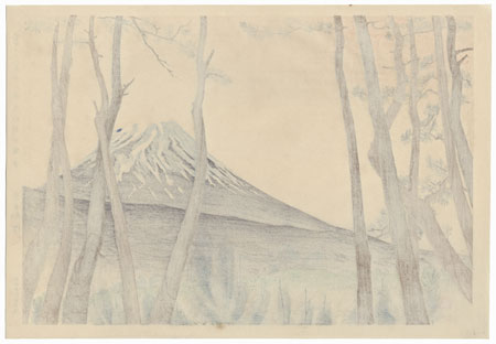 Fuji from the Pine Forest at Harajiku by Tokuriki (1902 - 1999)