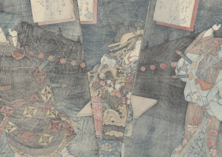 Enemies Meeting in the Yoshiwara, 1861 by Toyokuni III/Kunisada (1786 - 1864