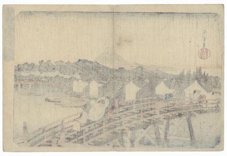 Shower of Rain in Sunshine at Nihonbashi, circa 1832 - 1838 by Hiroshige (1797 - 1858)