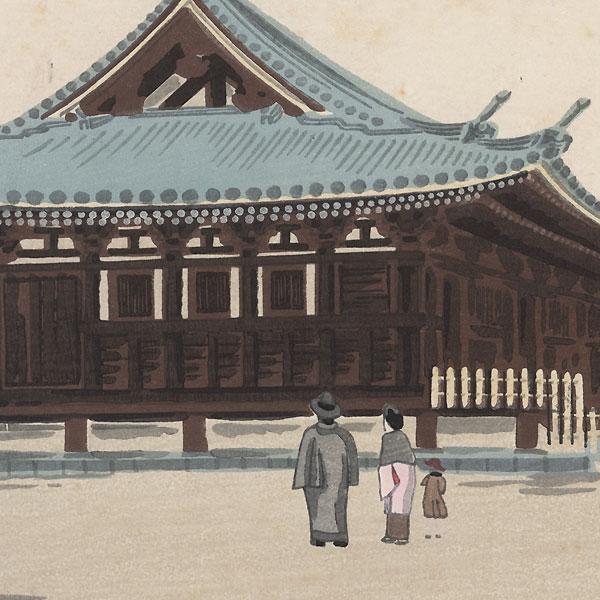 Sanjusangen-do, 1936 by Tokuriki (1902 - 1999)