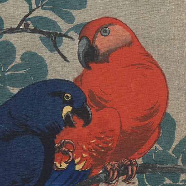 Two Macaws, 1925 by Ito Sozan (active 1919 - 1926)