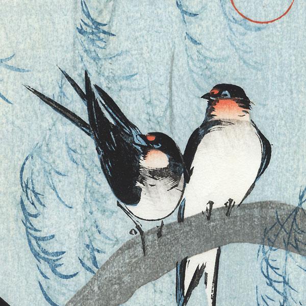 Swallows and Willow, circa 1925 by Ito Sozan (active 1919 - 1926)
