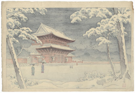 Zojoji Temple in Snow, 1954 by Haruyoshi (Shunho)